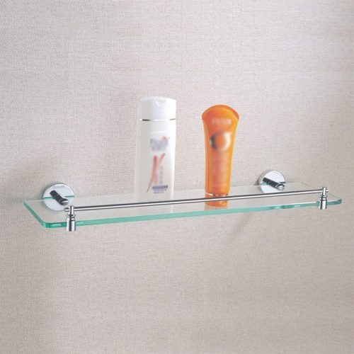 Glass bathroom shelf
